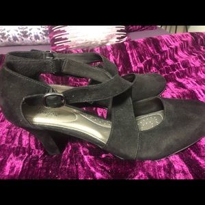 Faux Suede Maryjane Shoe NWOT